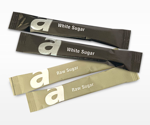 Amore Single Serve White & Raw Sugar Sachets Sticks