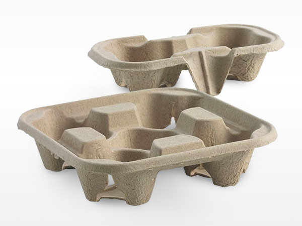 Sunny Coffee Distributors Bio Cup 2 and 4 Cup Carrier Trays