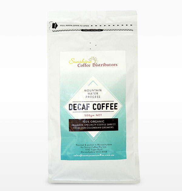 Sunny Coast Coffee Distributors Decafe Coffee 500gm Bag