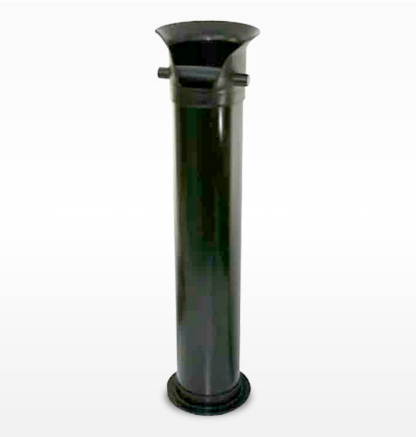 Satin Black Polypropylene Knockbox 900mm