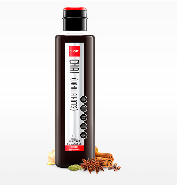 Chai Vanilla Notes Shott Syrup 1L - Sunny Coast Coffee Distributors
