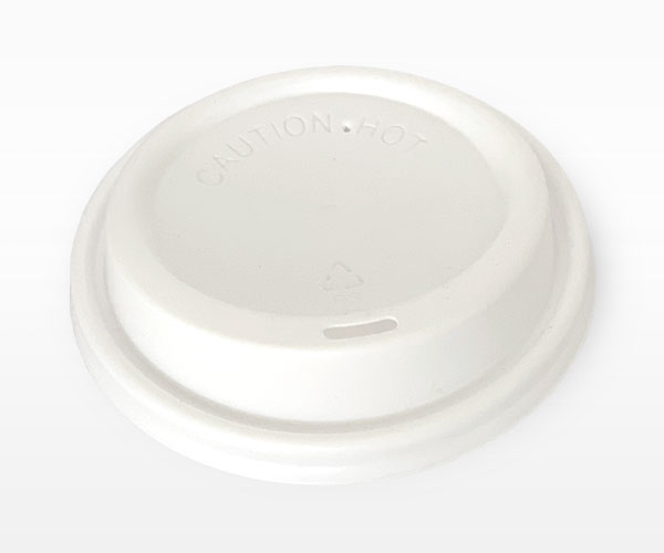 White Non Compostable Coffee Cup Lid